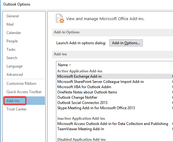 outlook-add-ins-options
