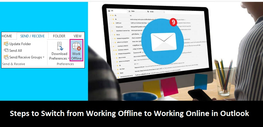 Switch-from-Working-Offline-to-Working-Online-in-Outlook
