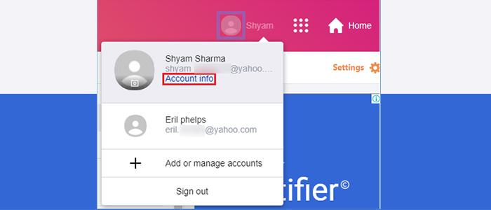 Click Account info