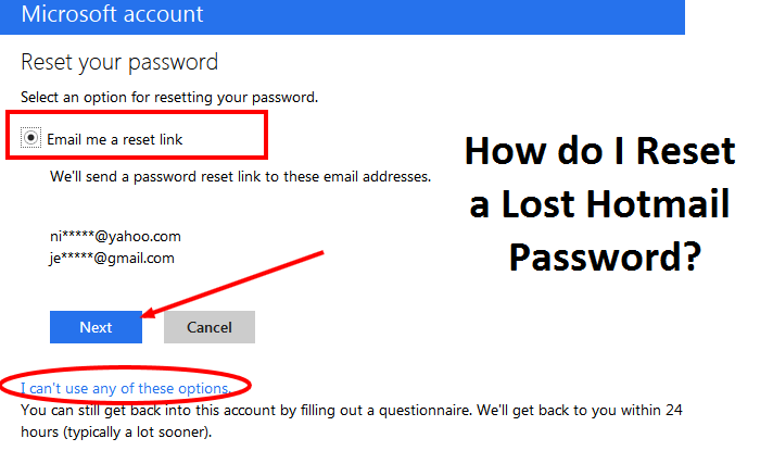Reset-Lost-Hotmail-Password