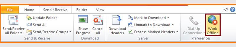 Click Work Offline