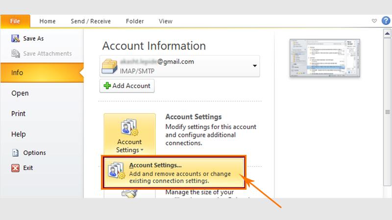 Select Account Settings