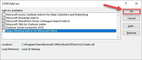 uncheck-Outlook-Add-ins